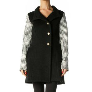 Sasha Rhett Aldrich coat black & white size small